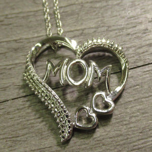 925 sterling silver mom mother love necklace